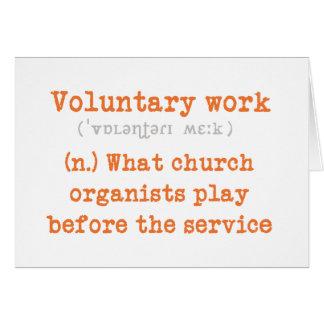 Tarjeta de trabajo voluntaria