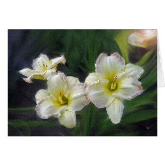 Tarjeta de tres Lillies