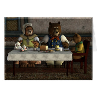 Tarjeta de tres osos