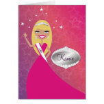Tarjeta de TT-Srta. Beauty princesa Blonde el   Co