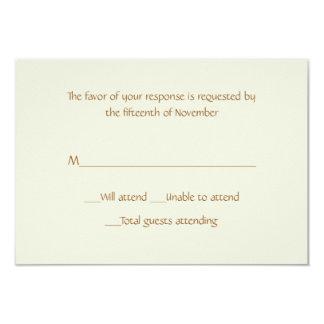 Tarjeta de uso múltiple de la respuesta de la invitación 8,9 x 12,7 cm