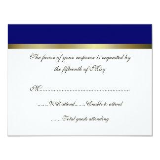 """Tarjeta de uso múltiple de la respuesta del boda invitación 4.25"""" x 5.5"""""""