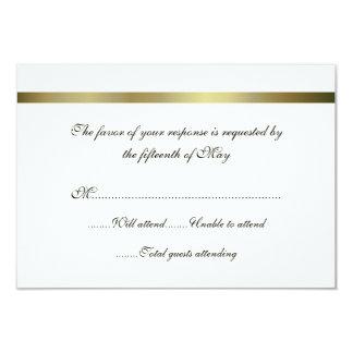 """Tarjeta de uso múltiple de la respuesta del boda invitación 3.5"""" x 5"""""""