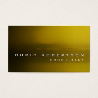 Tarjeta de visita abstracta amarilla del consultor