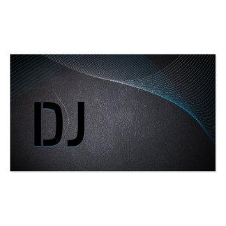Tarjeta de visita abstracta de DJ del negro de car