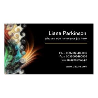 tarjeta de visita abstracta de pintura