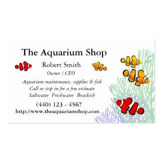 Tarjeta de visita adaptable de Clownfish del arrec