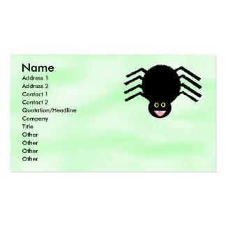 Tarjeta de visita adaptable de la araña negra