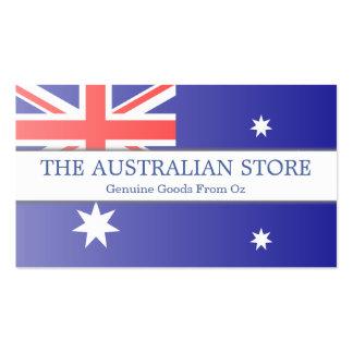 Tarjeta de visita adaptable de la bandera australi