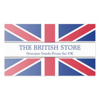 Tarjeta de visita adaptable de la bandera británic