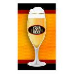 Tarjeta de visita adaptable de la cerveza de la ce