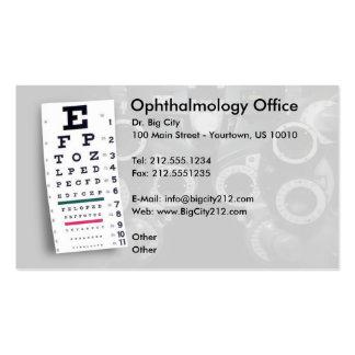 Tarjeta de visita ADAPTABLE de la oftalmología