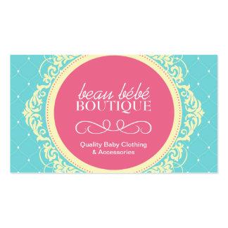 Tarjeta de visita adaptable del boutique del bebé