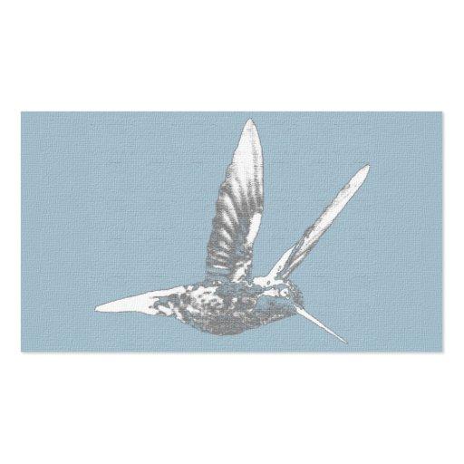 Tarjeta de visita adaptable del colibrí elegante