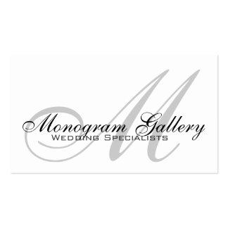 Tarjeta de visita adaptable del monograma del boda