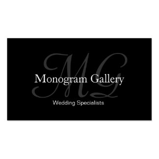 Tarjeta de visita adaptable del monograma elegante