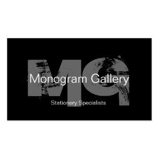 Tarjeta de visita adaptable del monograma intrépid