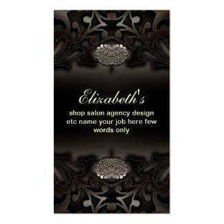 tarjeta de visita adornada negra
