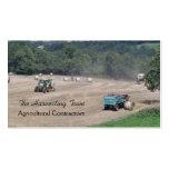 Tarjeta de visita agrícola del contratista