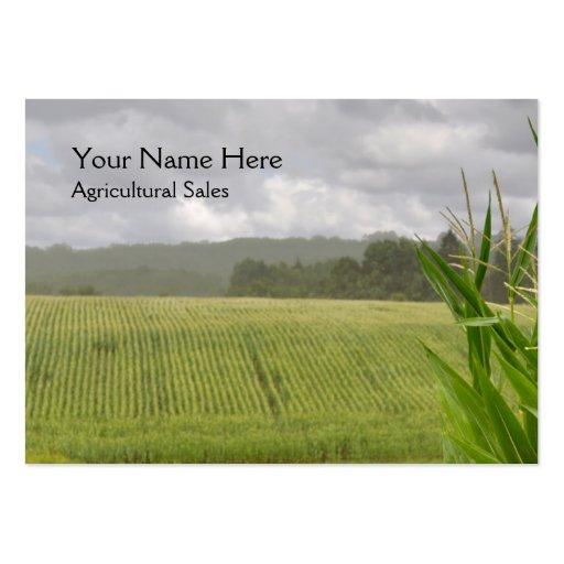 Tarjeta de visita agrícola del maíz