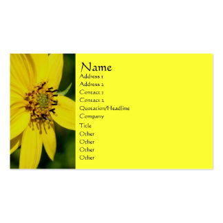 Tarjeta de visita amarilla de la fotografía de la
