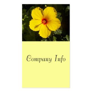 Tarjeta de visita amarilla del hibisco