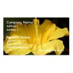 Tarjeta de visita amarilla floreciente de la flor