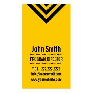 Tarjeta de visita amarilla moderna del director de