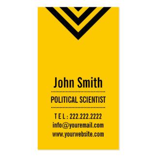 Tarjeta de visita amarilla moderna del politólogo