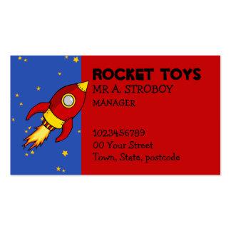 Tarjeta de visita amarilla roja de Rocket