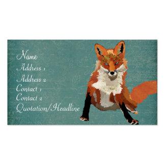 Tarjeta de visita ambarina del Fox del vintage