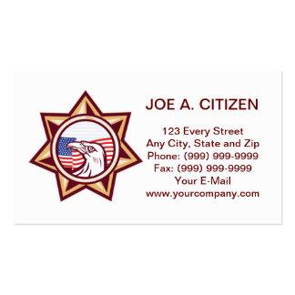tarjeta de visita americana del águila de la aplic