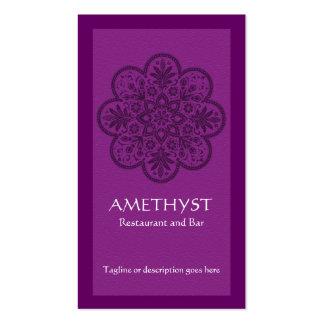 Tarjeta de visita Amethyst del ornamento