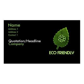Tarjeta de visita amistosa de Eco