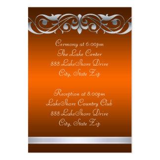 Tarjeta de visita anaranjada de la grande duquesa