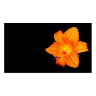 Tarjeta de visita anaranjada del lirio de día