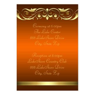 Tarjeta de visita anaranjada del oro de la grande