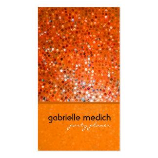 Tarjeta de visita anaranjada elegante del planific