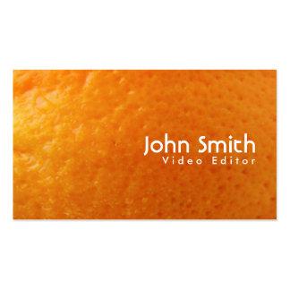 Tarjeta de visita anaranjada fresca del editor de