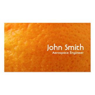 Tarjeta de visita anaranjada fresca del ingeniero