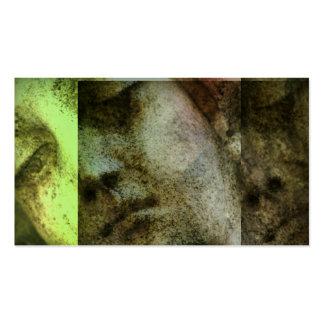 Tarjeta de visita angelical del Grunge de la cara