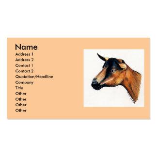 Tarjeta de visita animal del arte de la cabra de