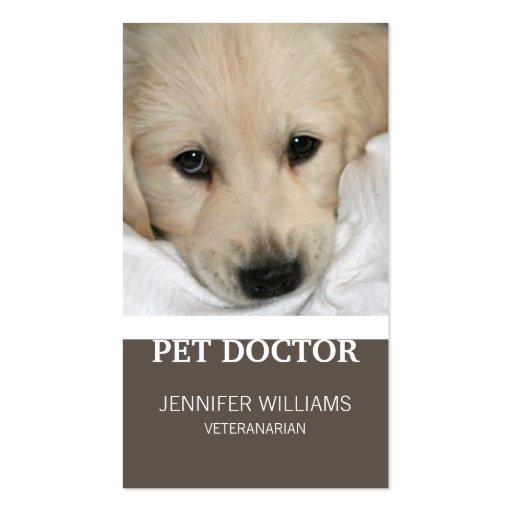 Tarjeta de visita animal del cuidado de animales d