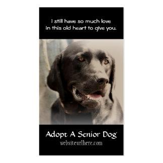 Tarjeta de visita animal del rescate del perro vie