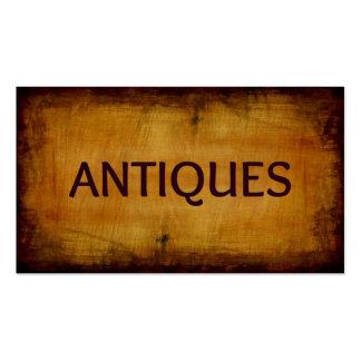 Tarjeta de visita antigua cepillada antigüedades