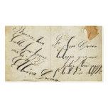 Tarjeta de visita antigua de la postal
