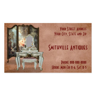 Tarjeta de visita antigua de la tienda de muebles