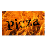 Tarjeta de visita ardiente caliente de la pizza de