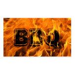 Tarjeta de visita ardiente caliente del Bbq del fu