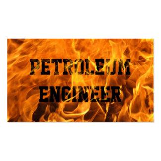 Tarjeta de visita ardiente del ingeniero del petró